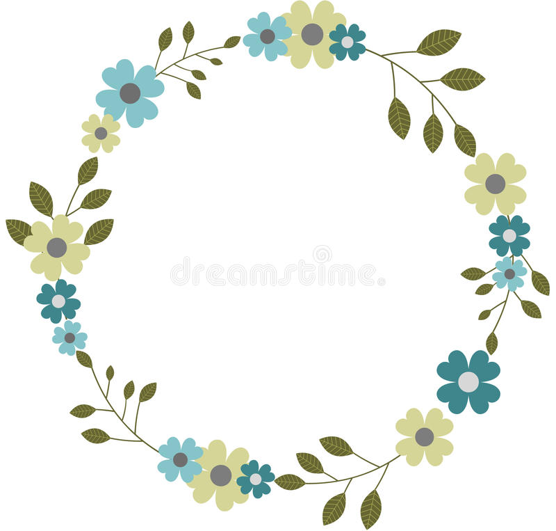 circular floral frame wreath garland round flower frame border design invitations cards png file transparent 70575900