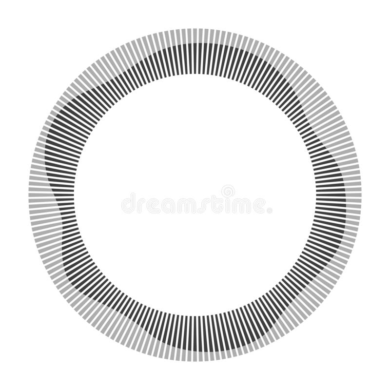Circular frame. Round shape. Radial black concentric particles. Vector illustration vector illustration