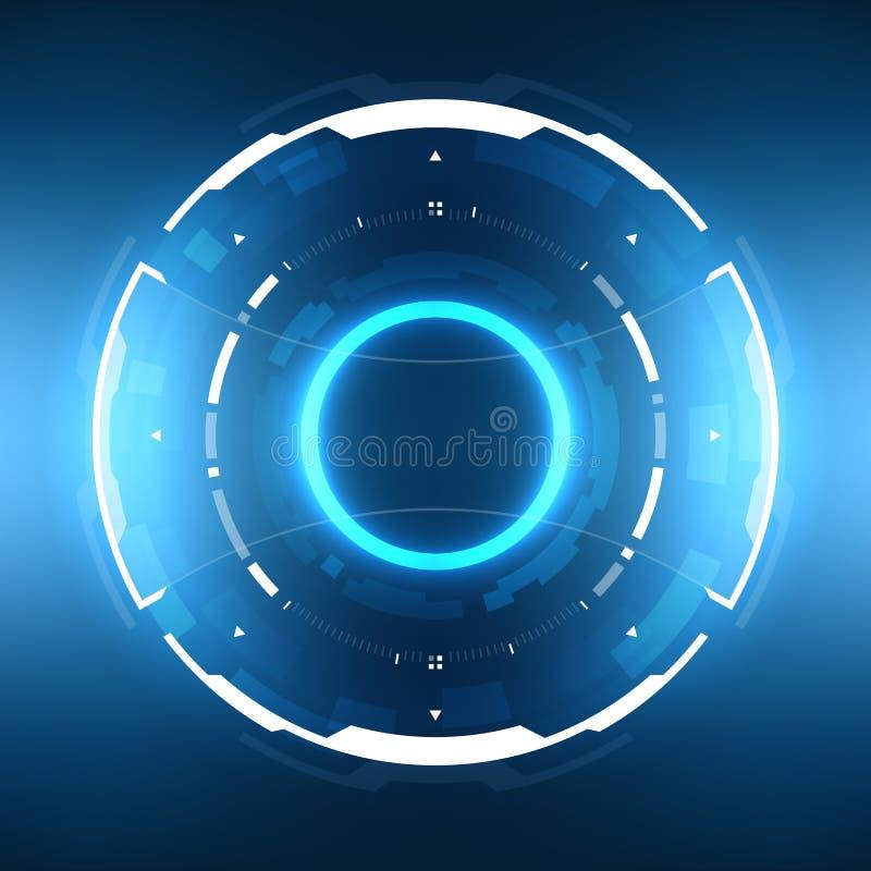 Circular futurista HUD Element da ficção científica fotografia de stock