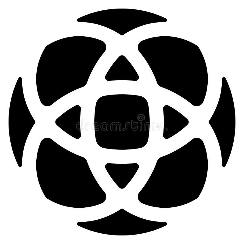 Circular geométrica - elemento simétrico, símbolo para los logotipos stock de ilustración