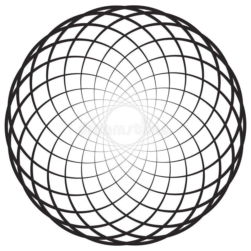 Circular geometric motif, element, Concentric circles abstract s. Hape. - Royalty free vector illustration vector illustration