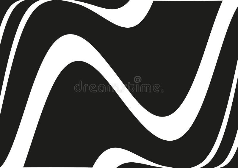 Circular geometric motif. Radiating shape. Geometric radial element. Abstract black and white illustration stock illustration