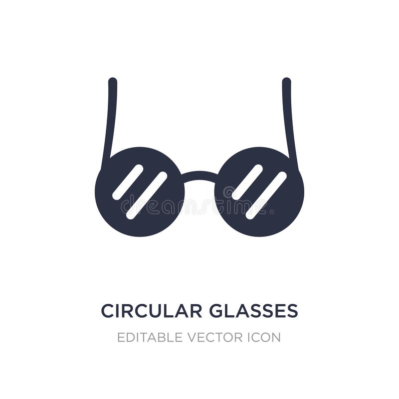 circular glasses icon on white background. Simple element illustration from Web concept vector illustration