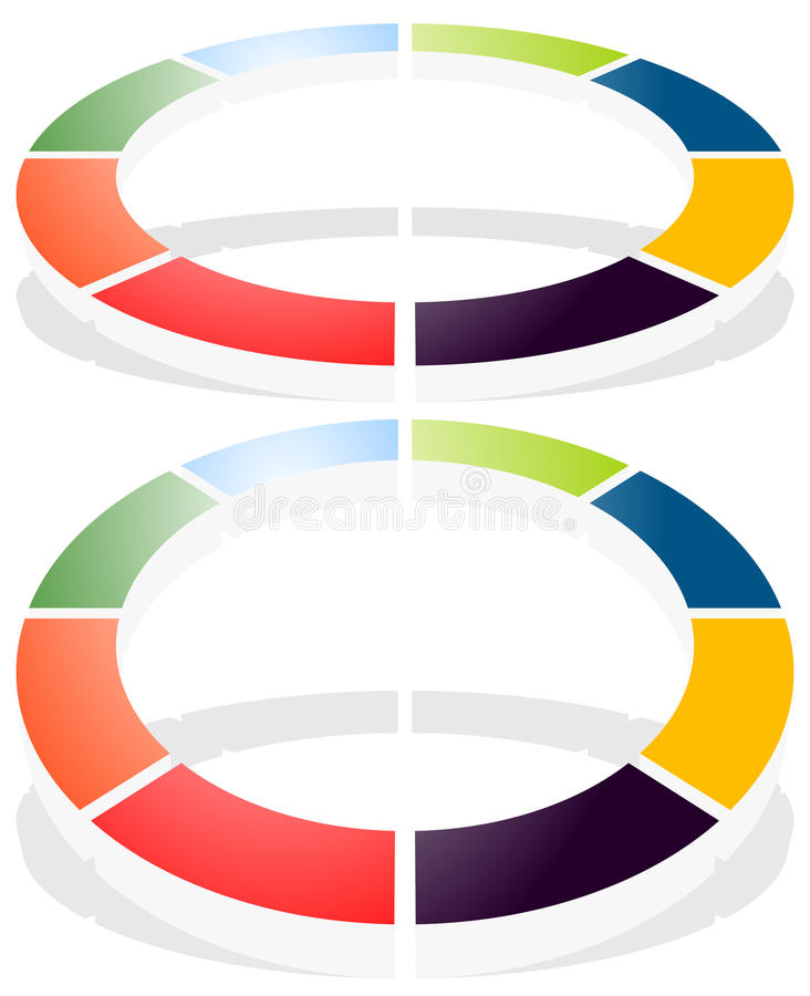 Circular graph icon, chart icon. Element for infographic design royalty free illustration