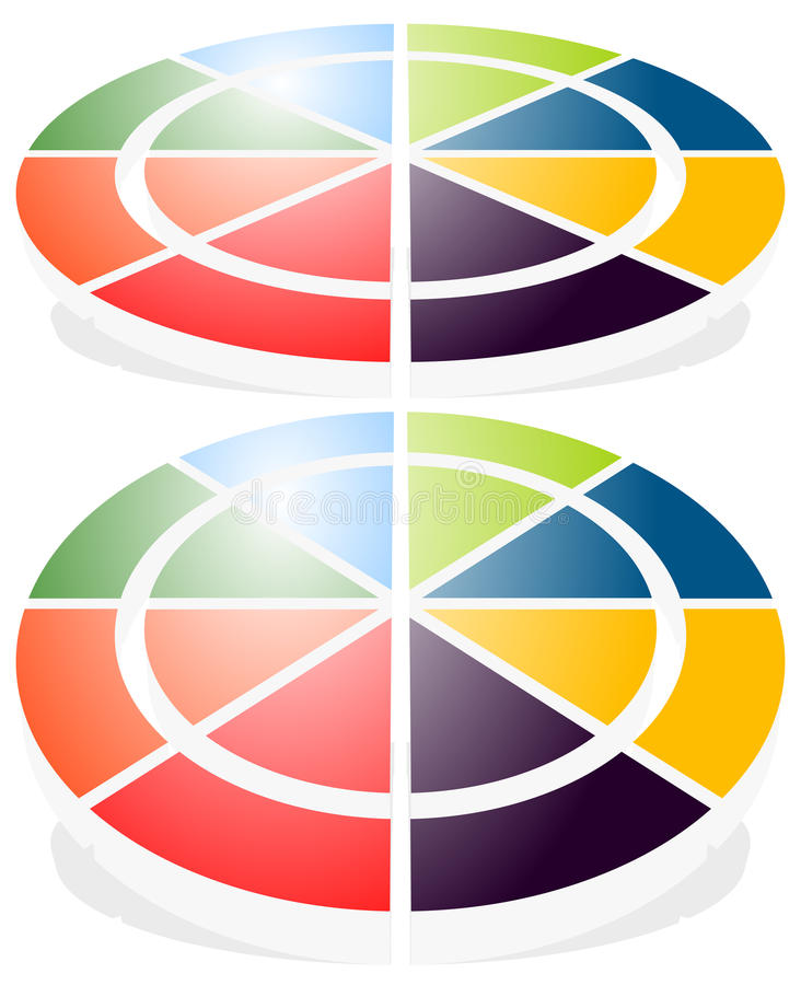 Circular graph icon, chart icon. Element for infographic design vector illustration