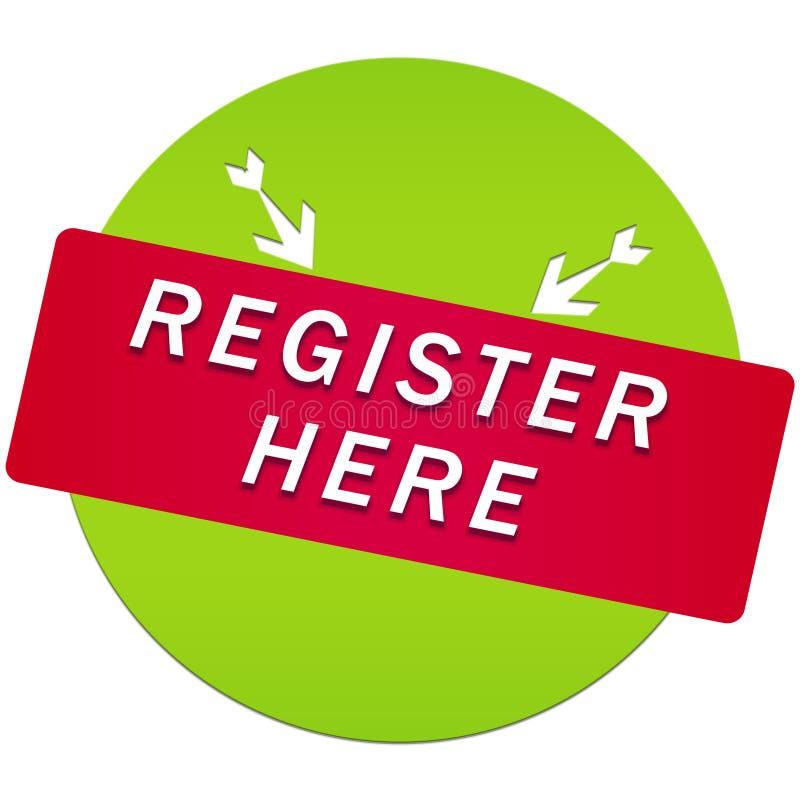 Register here button vector illustration