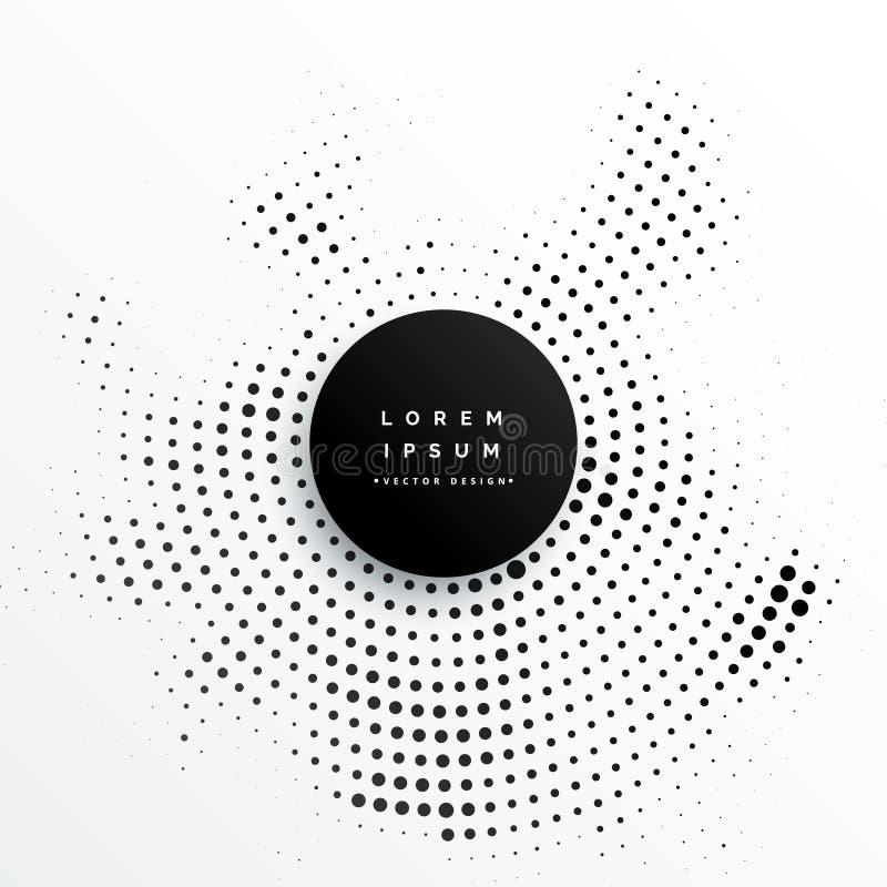Circular halftone dots background design vector illustration