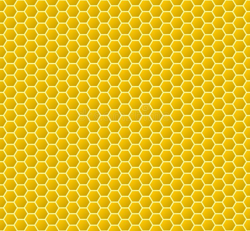 Circular honeycomb background. Seamless pattern. Vector illustration royalty free illustration