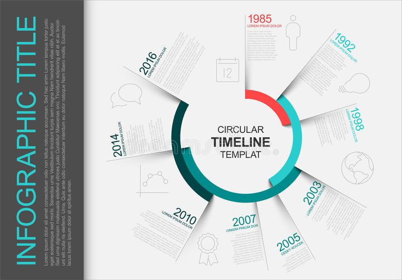Circular infographic timeline template vector illustration