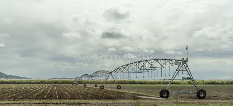 Circular Irrigation Watering System royalty free stock photos