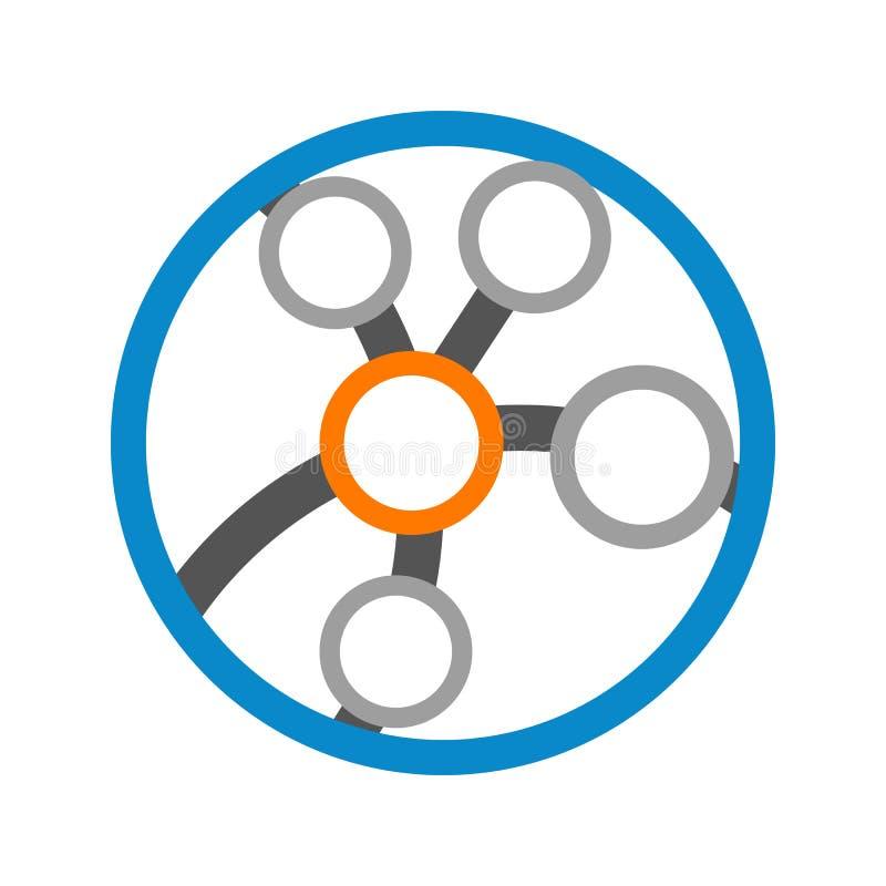 Circular Link Globe Technology Logo Vector Graphic Design. Circular Link Globe Technology Logo Vector Illustration Graphic Design stock illustration
