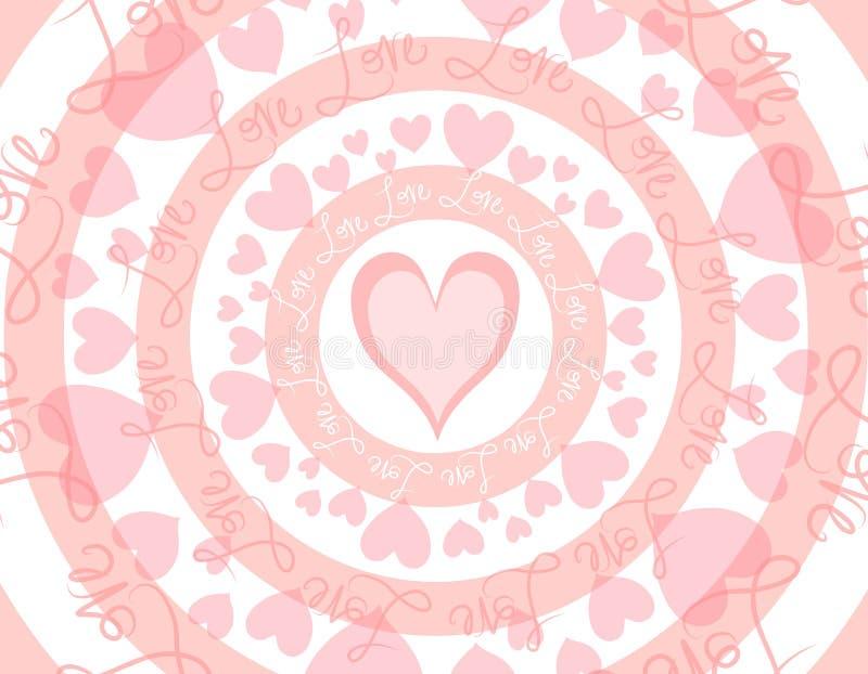 Circular Love Valentine's Day Background vector illustration