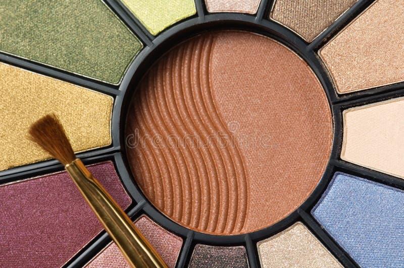 Download Circular makeup pallet stock image. Image of eyes, pretty - 599709