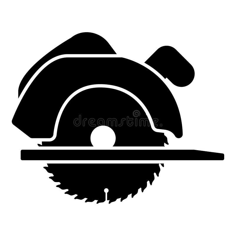A circular manual viu do estilo liso preto da ilustração de cor do ícone a imagem simples ilustração royalty free