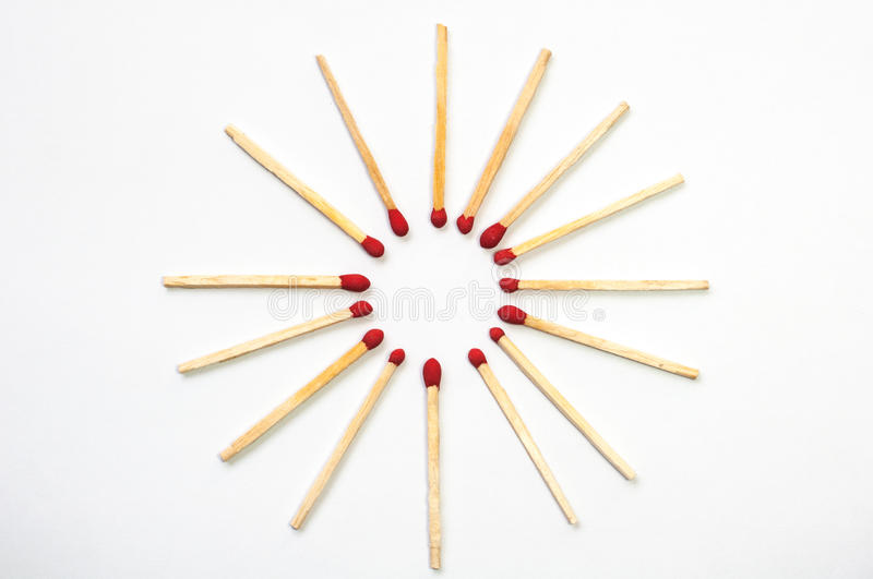 Circular matches royalty free stock photography