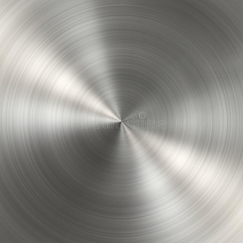 Circular metal brushed texture royalty free stock images