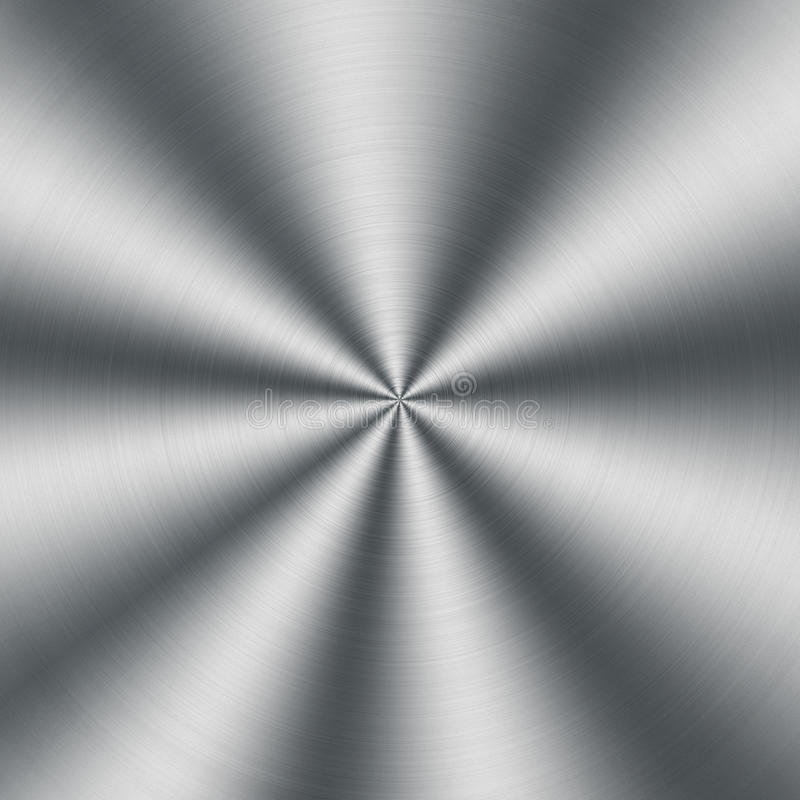 Circular metallic texture. Silver steel shiny background royalty free stock images