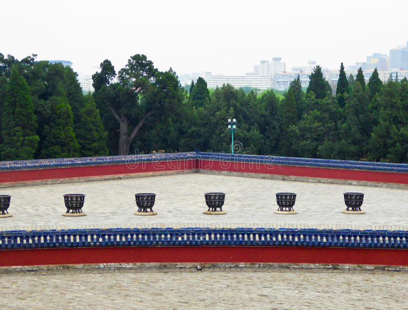 The Circular Mound Altar. Inside Tiantan Park in Beijing China royalty free stock photos