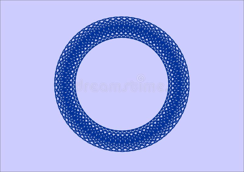 Circular pattern of the edge of blue. royalty free stock photos
