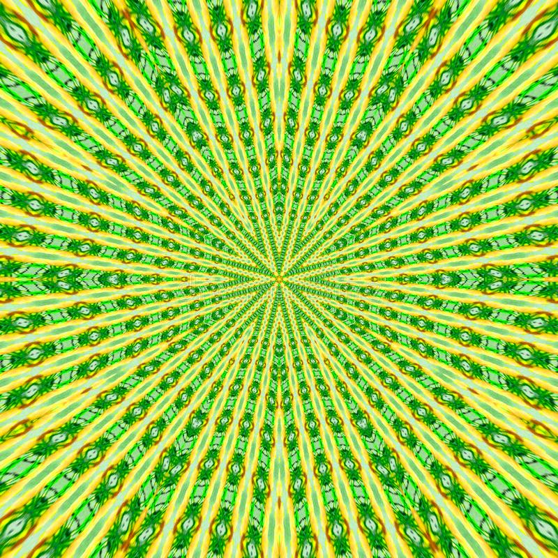 Circular pattern in grunge style and green colors. Lined pattern. Circular pattern in grunge style and green colors royalty free illustration