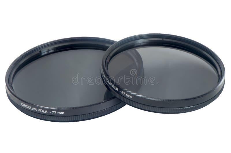 Circular polarizer filter. A circular polarizer filter for camera lens royalty free stock photo