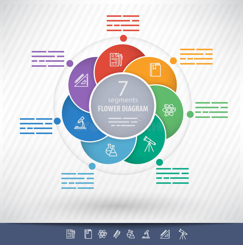 Circular presentation template vector illustration