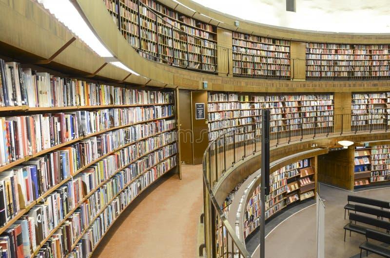 Circular public library, Stockholm, Sweden stock image