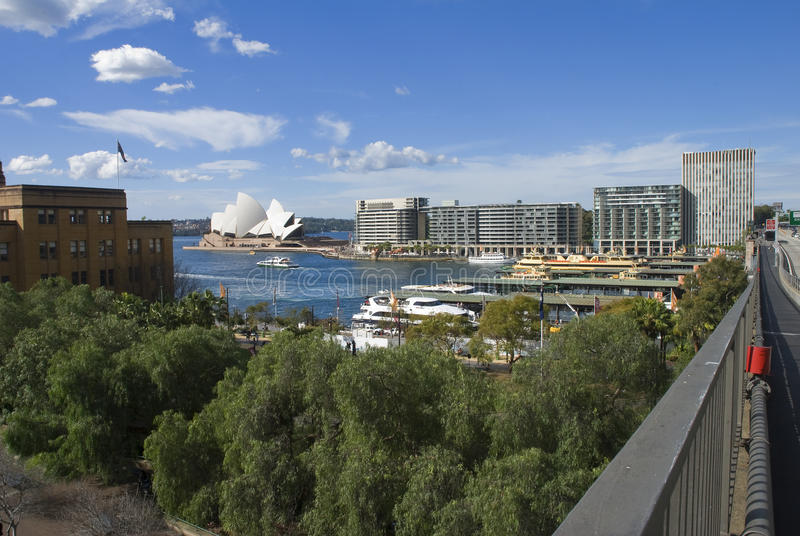Circular Quay from the Cahill walkway stock photos