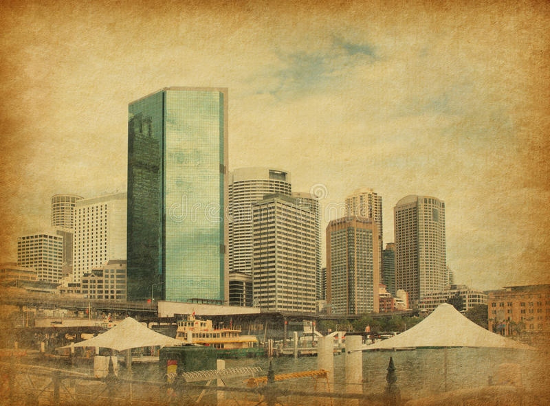 Download Circular Quay In Retro Style. Stock Image - Image: 33335709