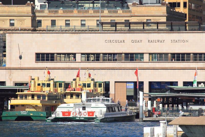 Circular Quay ferry terminal royalty free stock image