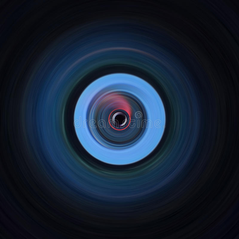 Circular que contrasta a arte preta e azul imagem de stock royalty free