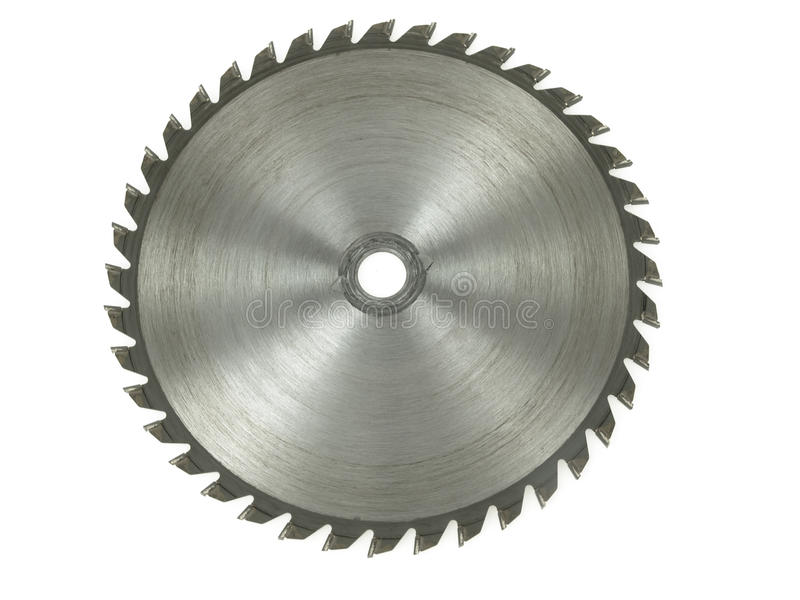 Circular saw. Isolated over a white background royalty free stock photo