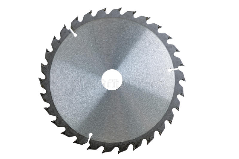 Circular Saw. Blade isolated over a white background stock photography
