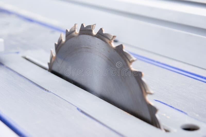 Circular saw. Sharp metallic circular saw for cutting wood stock photography