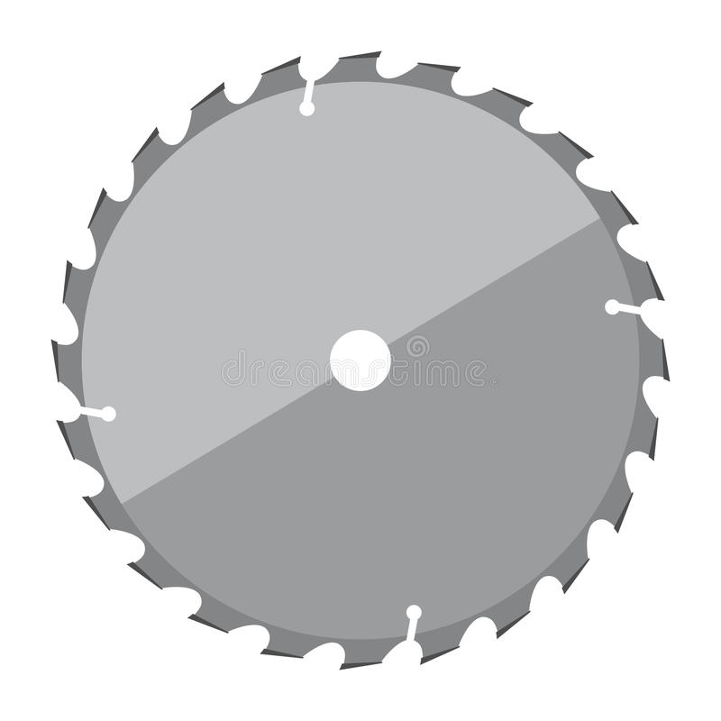 Circular saw blade stock illustration