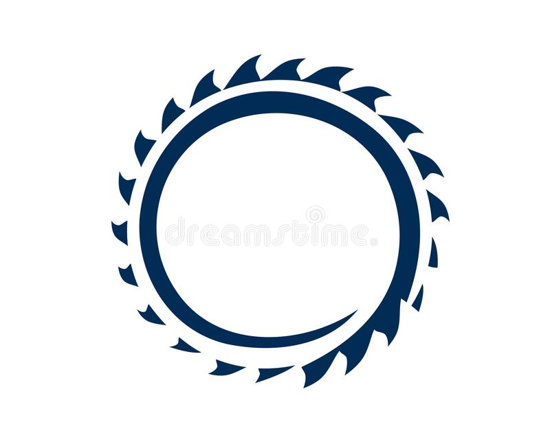 Saw blade. Circular saw blade illustration, icon design, isolated on white background royalty free illustration
