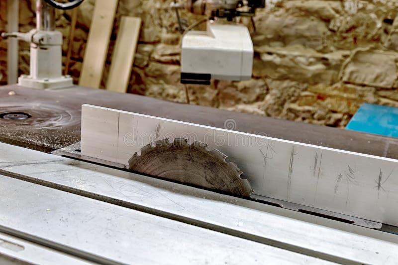 Circular saw blade. Professional circular saw blade, side view stock image