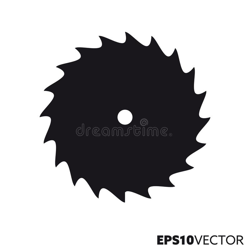 Free Circular Saw Blade Vector Glyph Icon Royalty Free Stock Images - 151761279