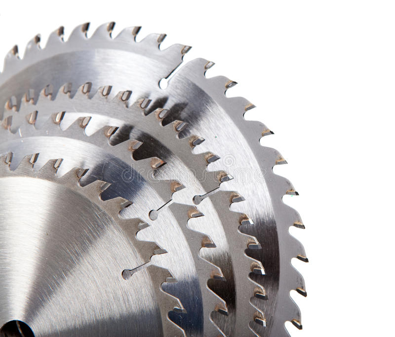 Download Circular Saw Blade For Wood With Hard Alloy Insertions On A White Background Stock Photo - Image of circle, industry: 32603180