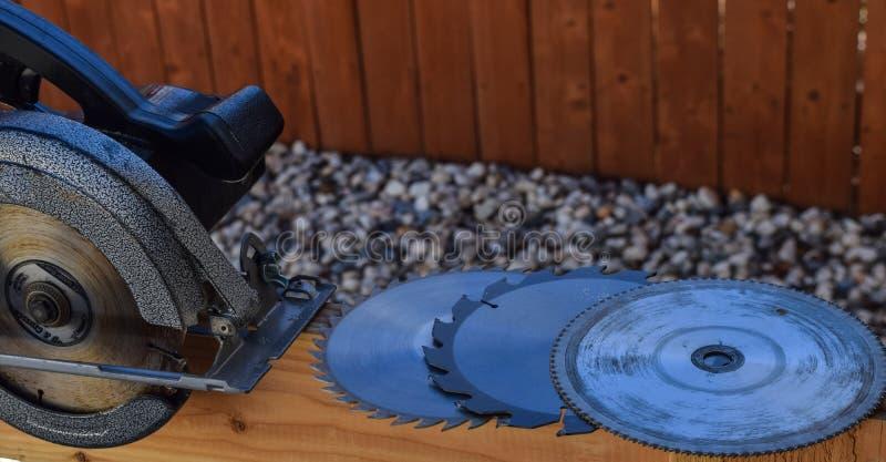 Circular Saw and Blades stock photo