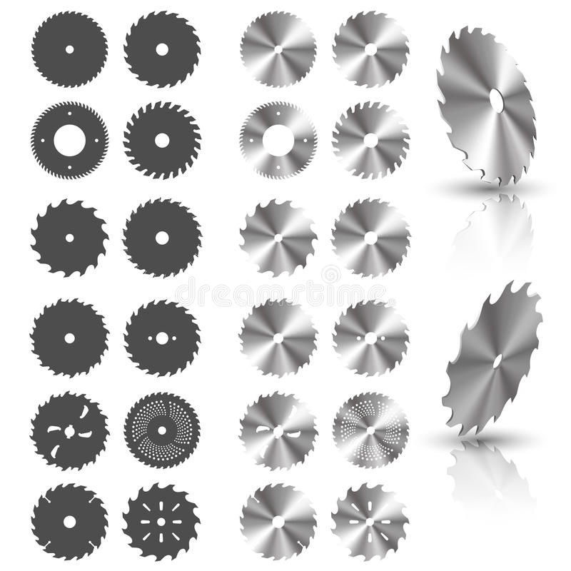 Circular saw blades vector illustration