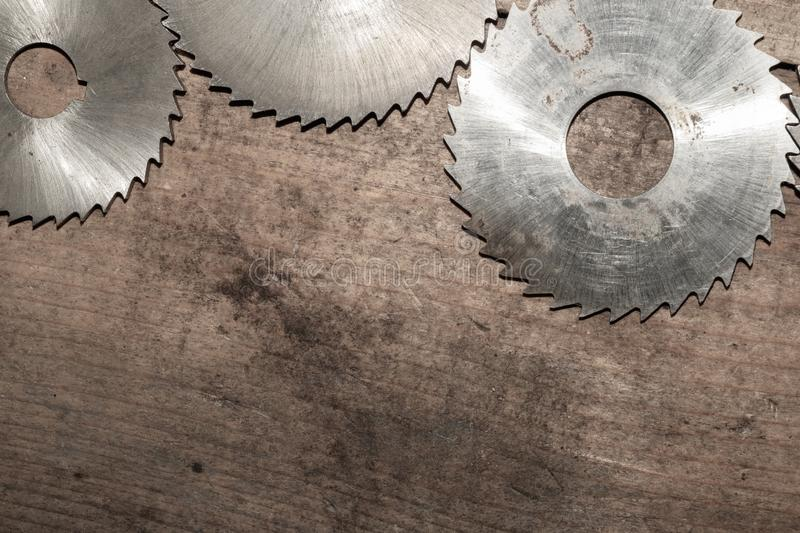Circular saw. carpentry tools. industrial background. equipment for sawmill and sawing wooden products. Circular saw blades. carpentry tools. industrial stock photography