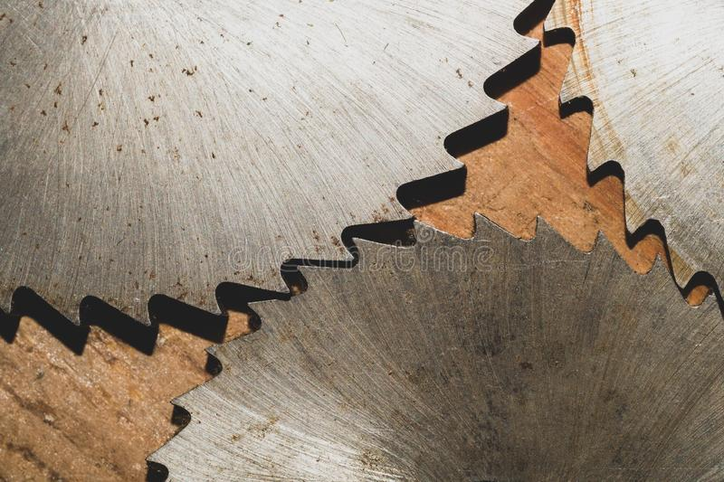 Circular saw. carpentry tools. industrial background. equipment for sawmill and sawing wooden products. Circular saw blades. carpentry tools. industrial stock image