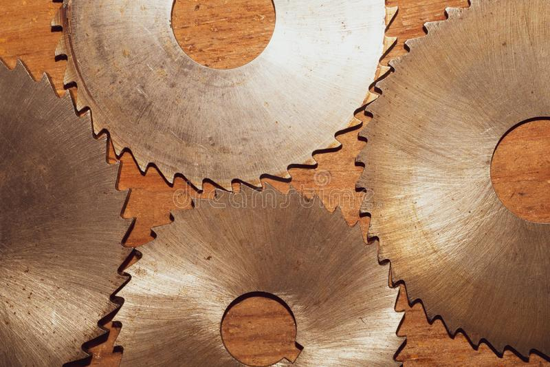 Circular saw. carpentry tools. industrial background. equipment for sawmill and sawing wooden products. Circular saw blades. carpentry tools. industrial stock images