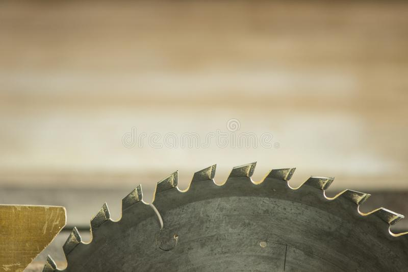 Circular saw. Table saw crosscut lade royalty free stock image