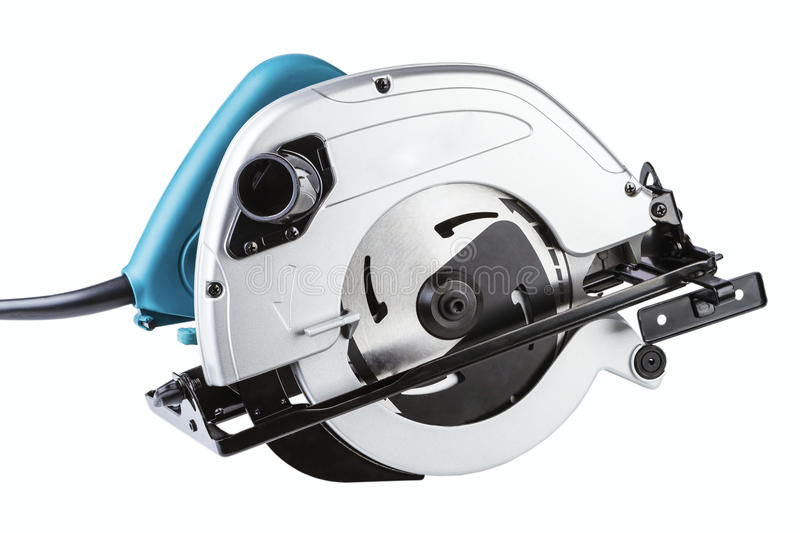 Circular saw. Isolated on a white background stock photo