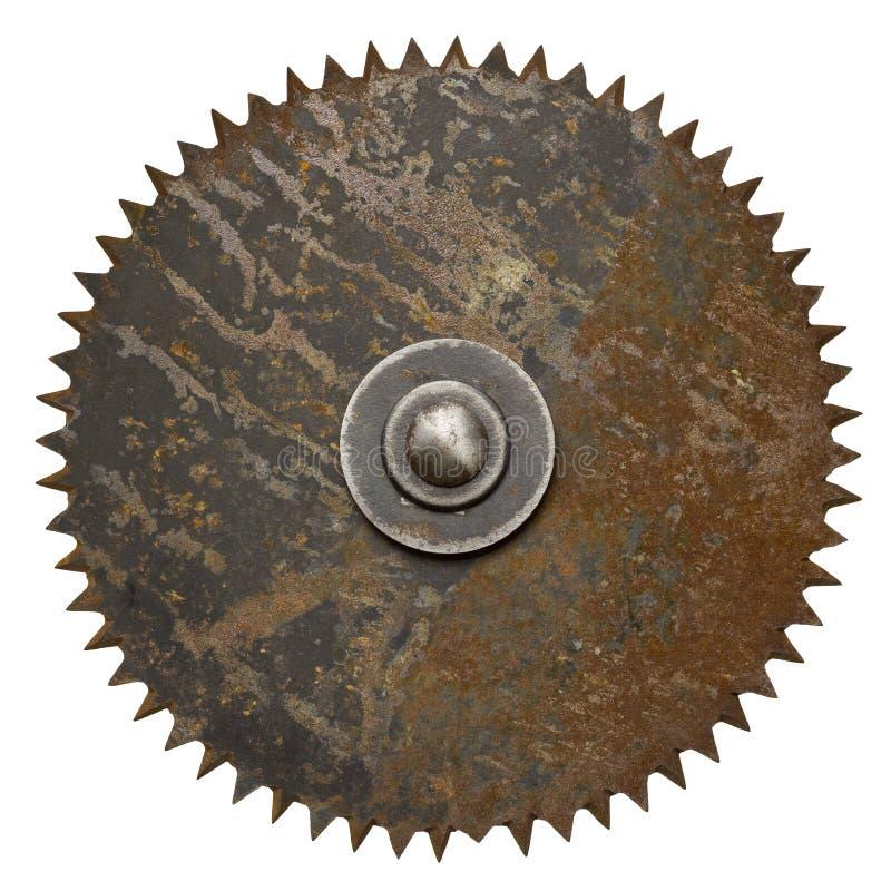 Circular saw. Old rusty circular saw blade stock photo