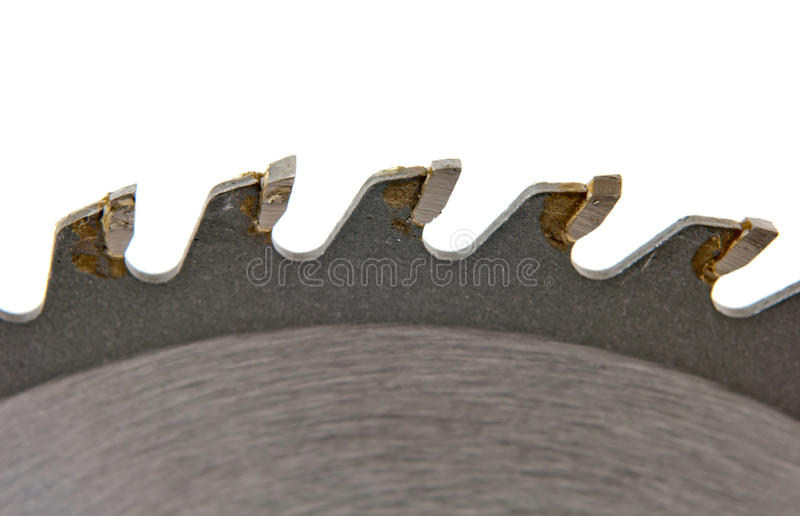 Circular saw. A circular saw studio isolated on white background stock images