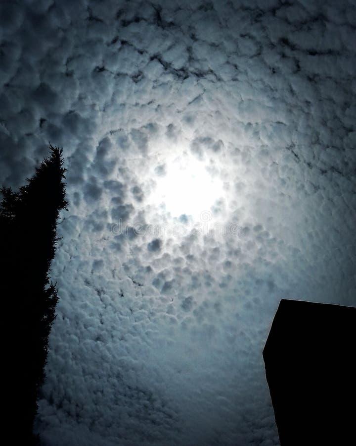 Circular sky stock image