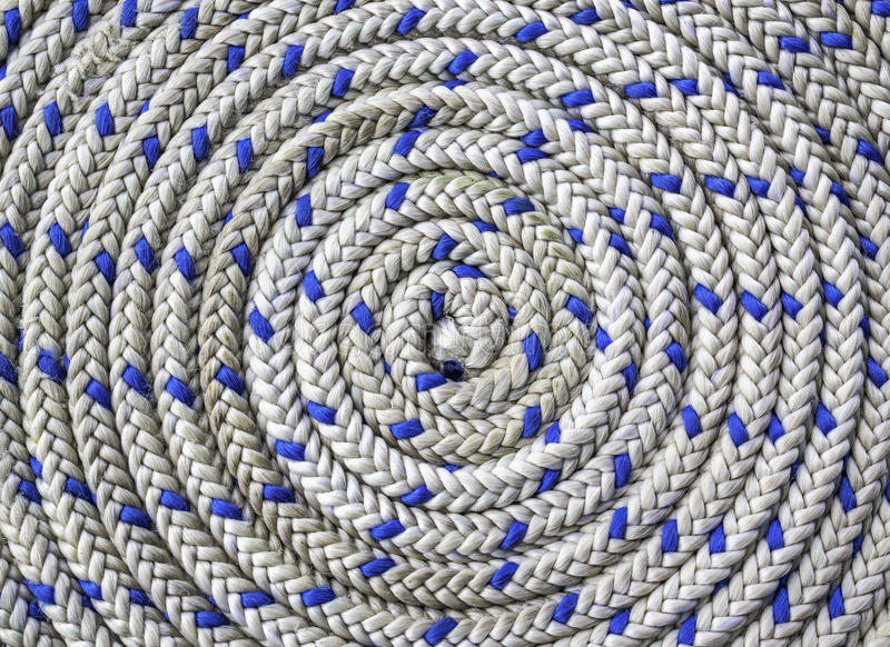 Circular spirally of nautical rope royalty free stock photography